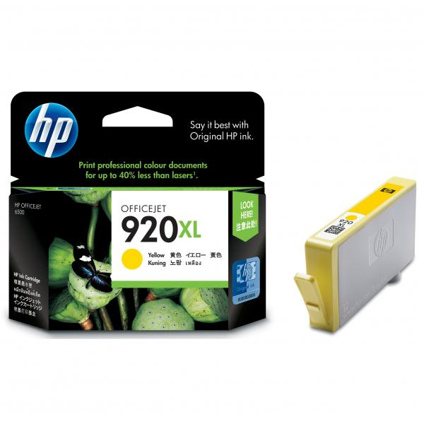 ink.HP,CD974AE, HP 920XL, yellow, 700str.