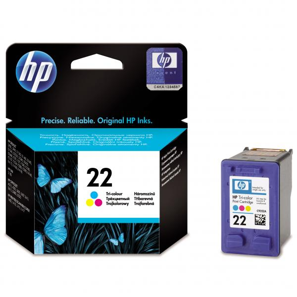 ink. HP C9352AE  HP 22  color 5ml - expirace 09/2017 1ks skladem