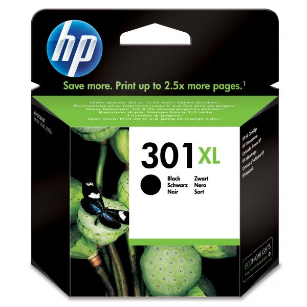 ink.HP CH563EE, HP 301XL, black, 480str.