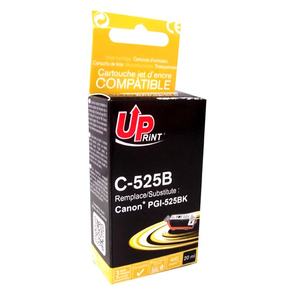 ink.UP Canon PGI525PGBK, black, 20ml s čipem