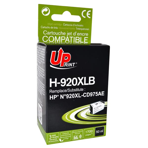 ink.UP HP CD975AE, HP 920XL, black, 50ml
