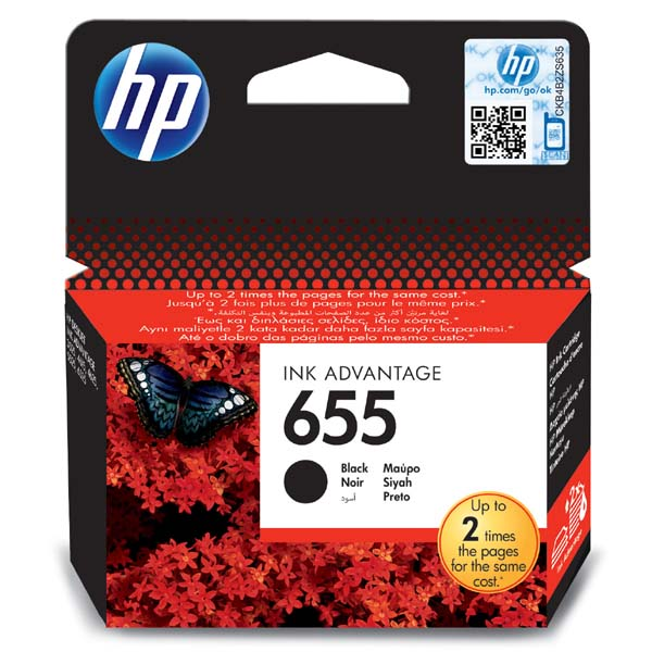 ink.HP CZ109AE, HP 655, black, 550str.,
