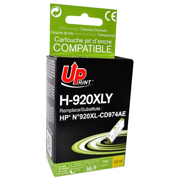 ink.UP HP CD974AE, HP 920XL, yellow, 12ml