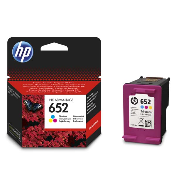 ink.HP F6V24AE, HP 652, color, 200str.
