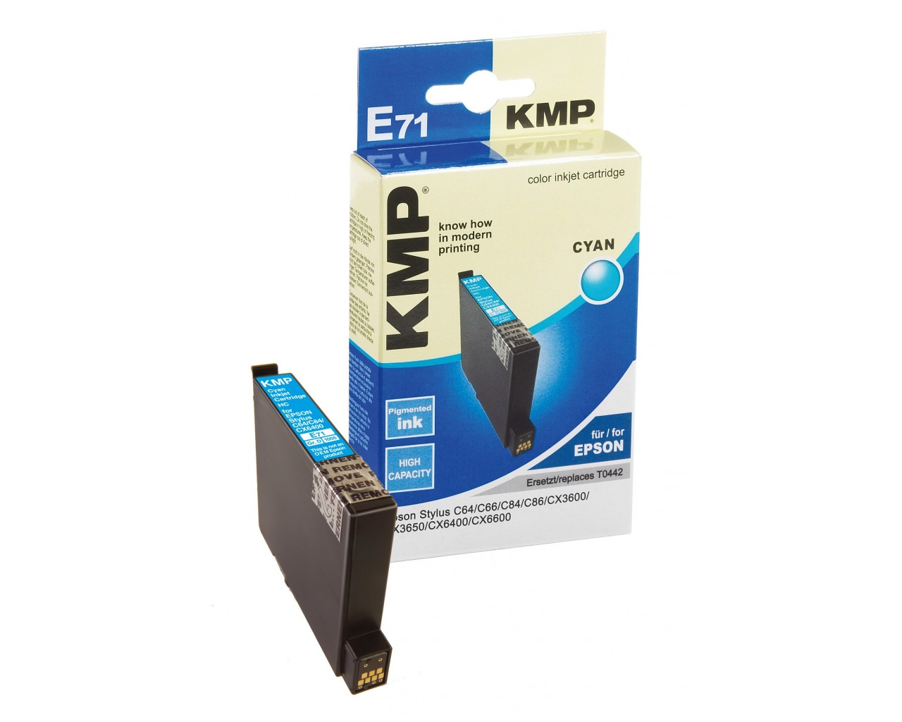 KMP Epson E71 ink cartridge cyan 13ml