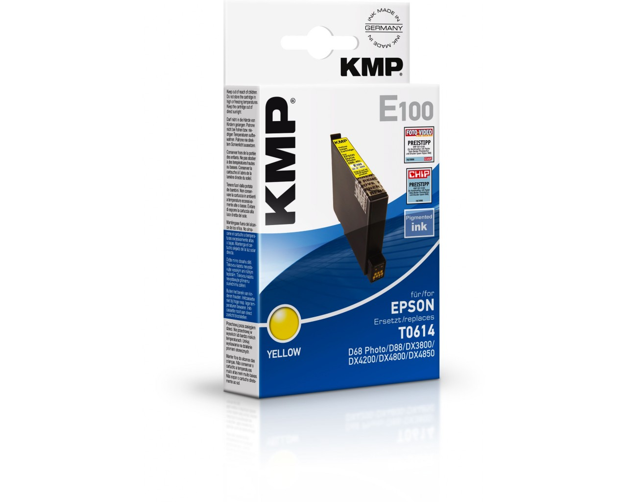 KMP Epson E100 ink cartridge žlutá 8ml