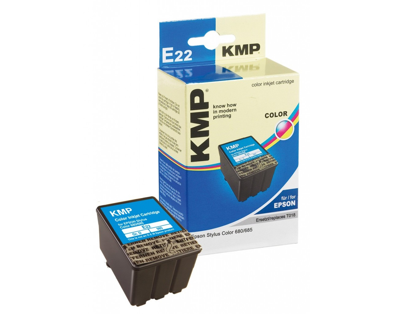 KMP Epson E22 ink cartridge color 36ml