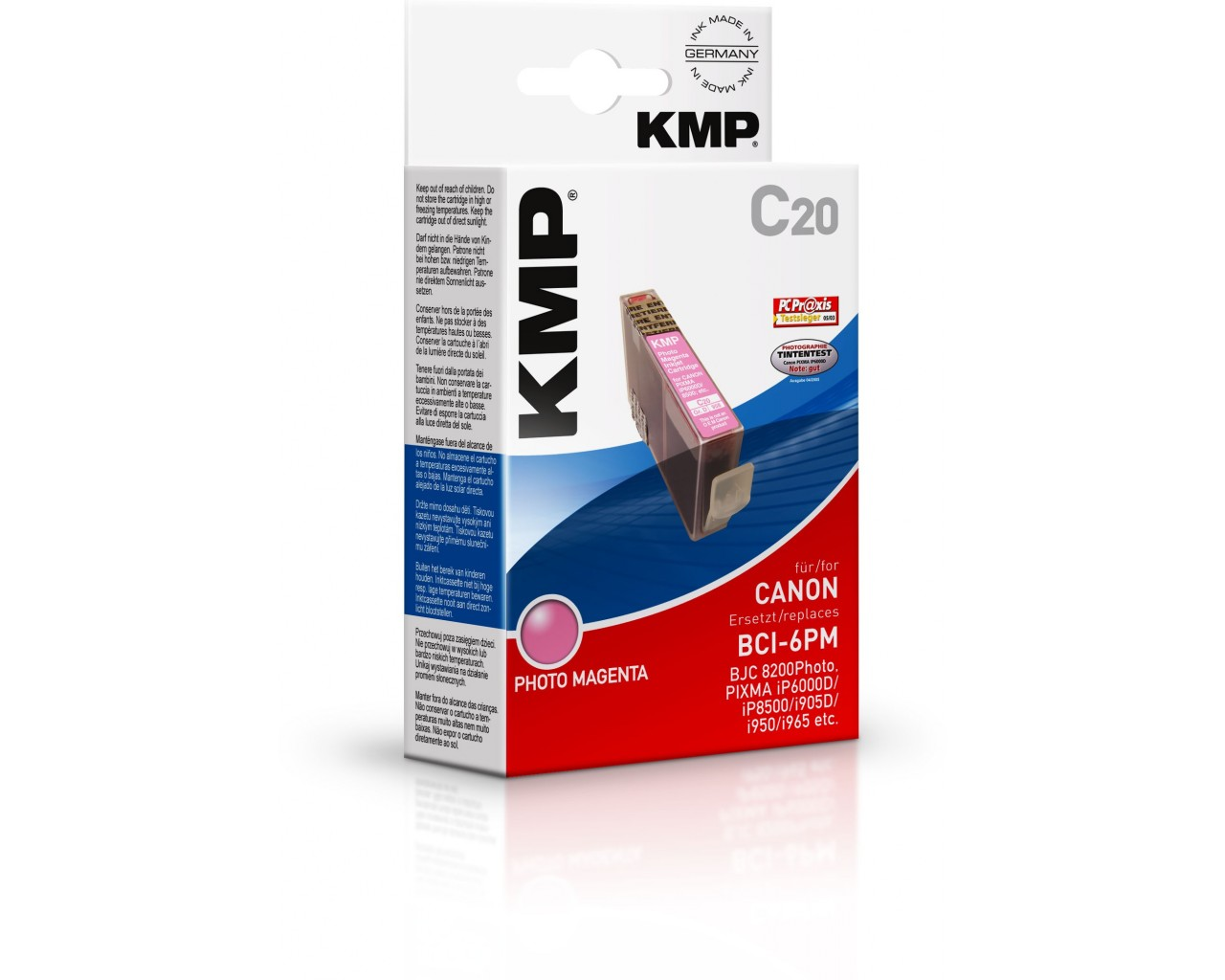 KMP Canon C20 photo ink cartridge magenta 17ml