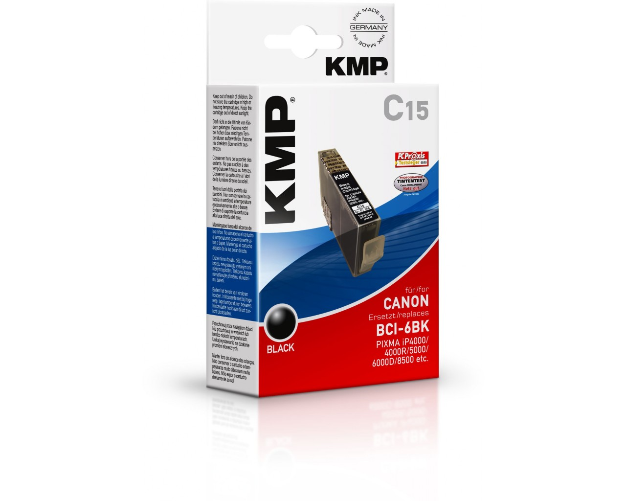 KMP Canon C15 photo ink cartridge černá 17ml