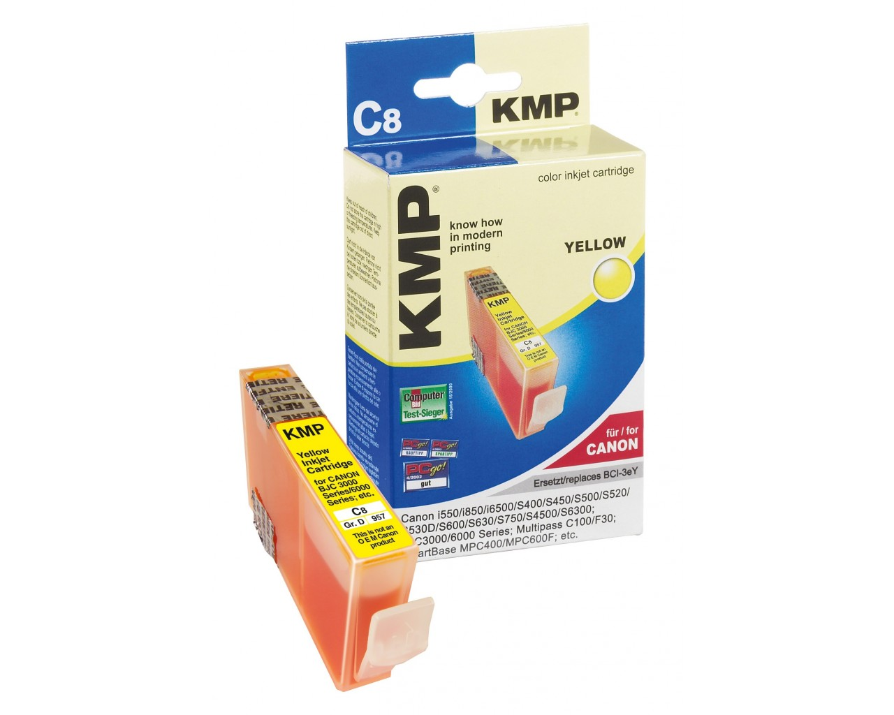 KMP Canon C8  ink cartridge žlutá 17ml