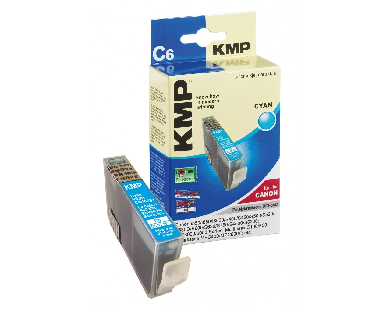 KMP Canon C6 ink cartridge cyan 17ml
