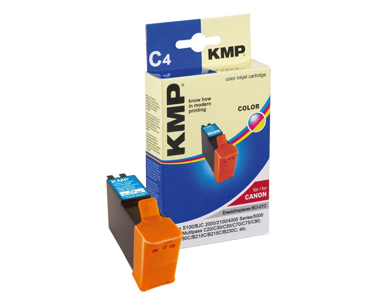 KMP Canon C4 ink cartridge color 15ml