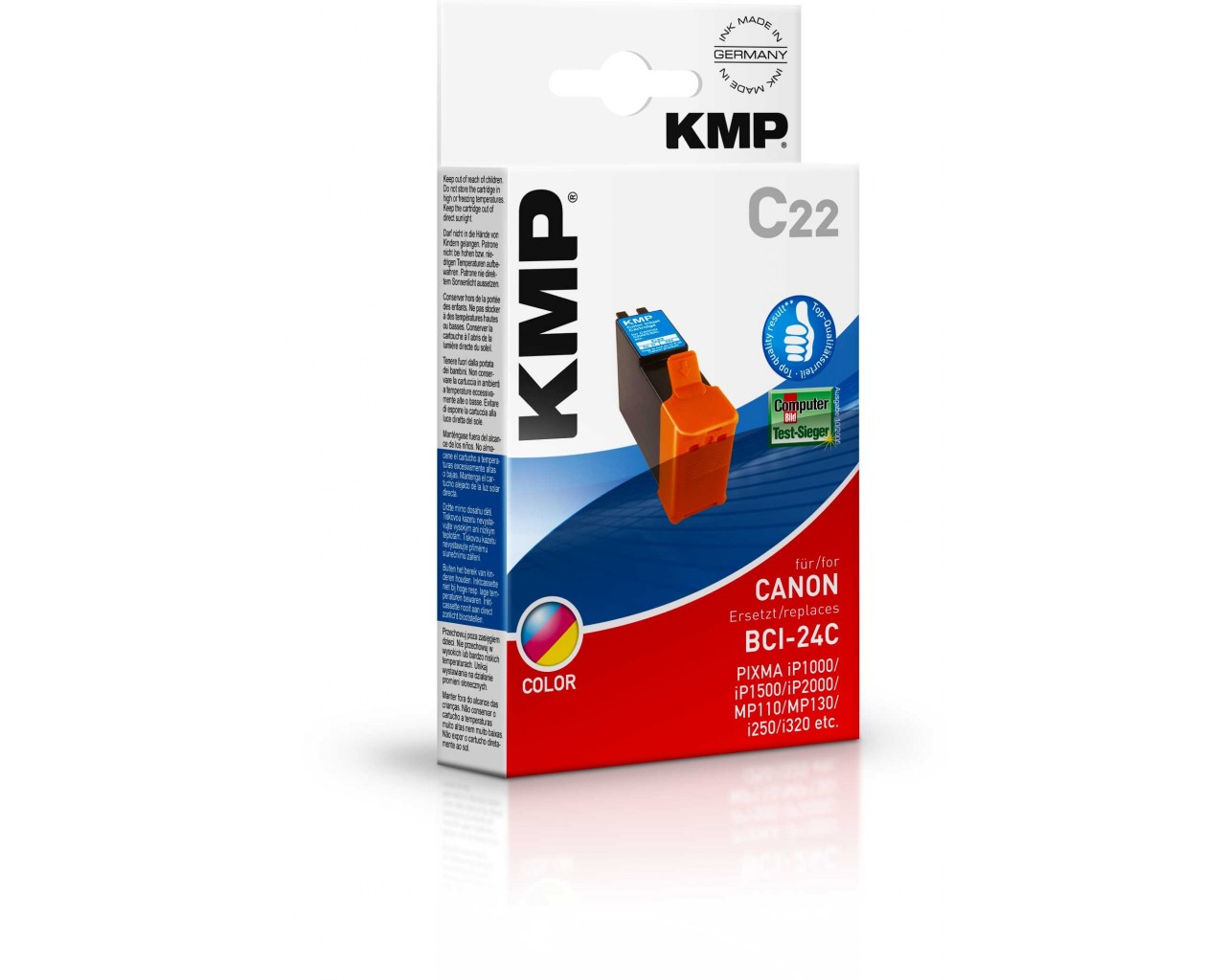 KMP Canon C22 ink cartridge color 15ml