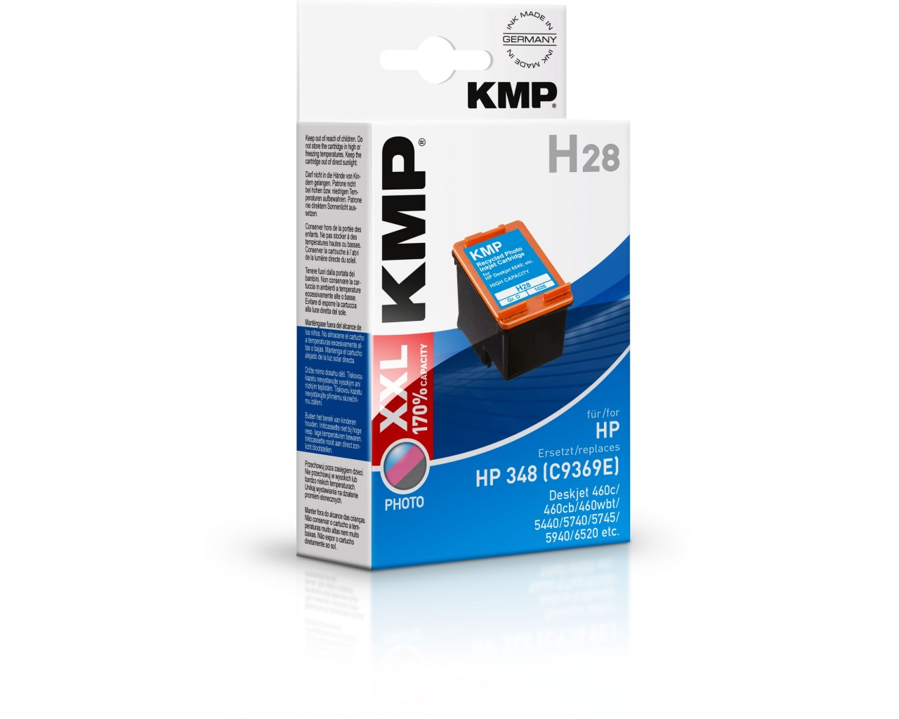 KMP HP H28 photo ink cartridge fotografická 22,5ml