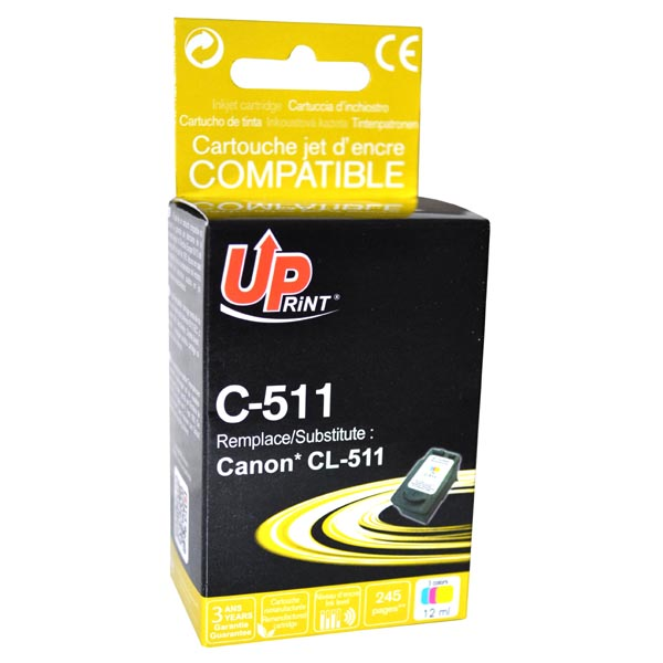 ink. UP CANON CL511 color expirace 10/2017 1ks skladem