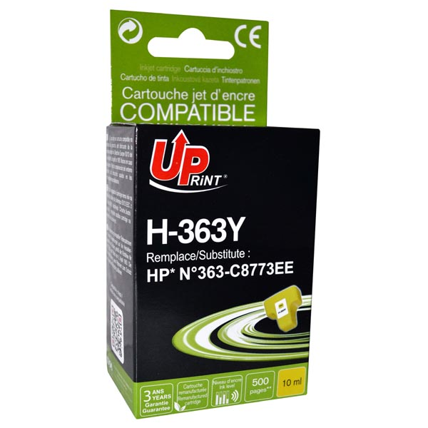ink UP HP 363Y C8773 yellow, 10ml - po expiraci 2ks skladem