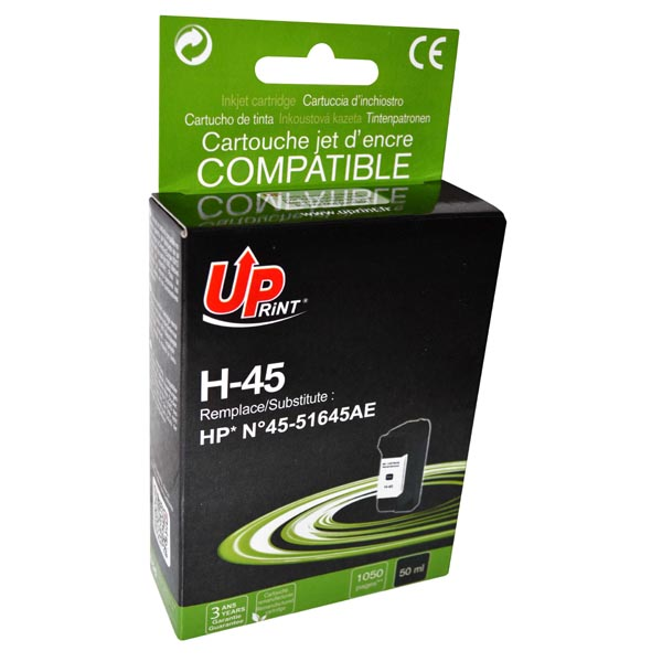 ink.UP HP 45 51645A  black, 50ml