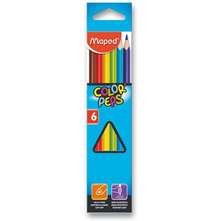 Pastelky Maped Color'Peps 6 barev