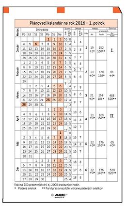 kalendar sk ADK formuláře A5 | Plánovací kalendář A5 2018, (1list) | OFERTA  kalendar sk