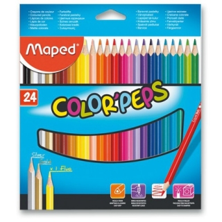 Pastelky Maped Color´Peps, 24 barev ks
