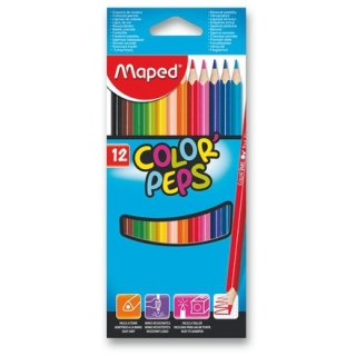 Pastelky Maped Color´Peps, 12 barev ks